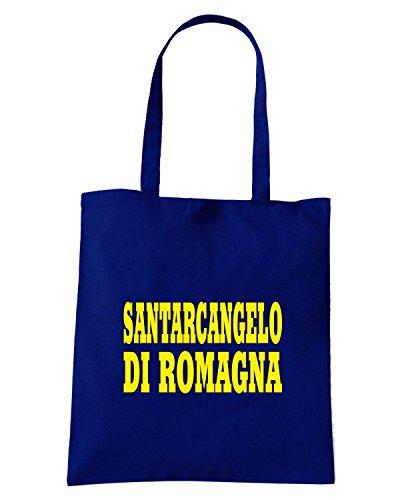T-Shirtshock - Borsa Shopping WC0864 SANTARCANGELO DI ROMAGNA ITALIA CITTA STEMMA LOGO Blu Navy
