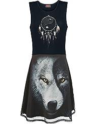 Spiral Wolf Chi Robe noir