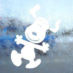 Aufkleber / Autoaufkleber / Sticker / Decal Snoopy White Decal Peanuts Car Laptop Window Vinyl White Sticker (Snoopy Laptop Decal)