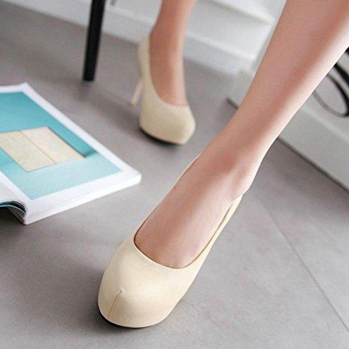 Dimensioni Piattaforma Tacchi Scarpe Extra Slip Ago on Tacco Coolcept Beige Moda Donna Con qg1wHFfaPF