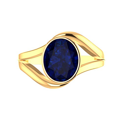 WHP Jewellers 9ratna Collection 18k (750) Yellow Gold and Blue Sapphire Ring