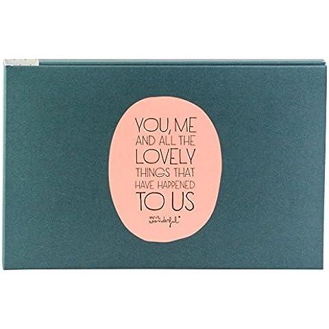 Mr. Wonderful - Álbum, diseño Tú y yo y todo lo bonito que nos ha pasado, cartón, color negro