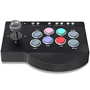 Arcade Fightstick, BEBONCOOL PXN Arcade Fight Stick, Arcade Controller Joystick für Street Fighter V/Ultra Street Fighter II: The Final Challengers Arcade Spiel, Arcade Stick für PS3/PS4/Xbox One/PC