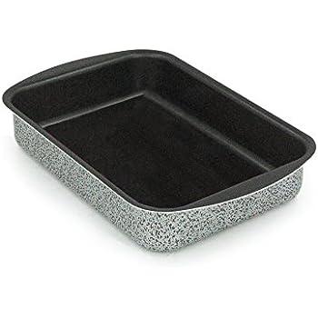 Aluminum Rectangular Aeternum YOC5/LS0002/New Trudi Roasting//Lasagne Dish Non-Stick Coating with Stone Particles 28.7/x 19.81/cm Grey