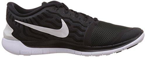 Nike  Free 5.0, chaussures sport homme Noir (Black/White)