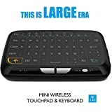 Easytone H18 2.4Ghz Wireless Mini Keyboard with Touchpad Mouse, Whole Panel Touchpad