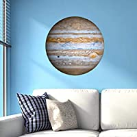 djryj 2019 New Luminous 3D Earth Saturn Uranus Wall Sticker Glow In The Dark Removable Wall Art Kids Room Decor for Home Decoration