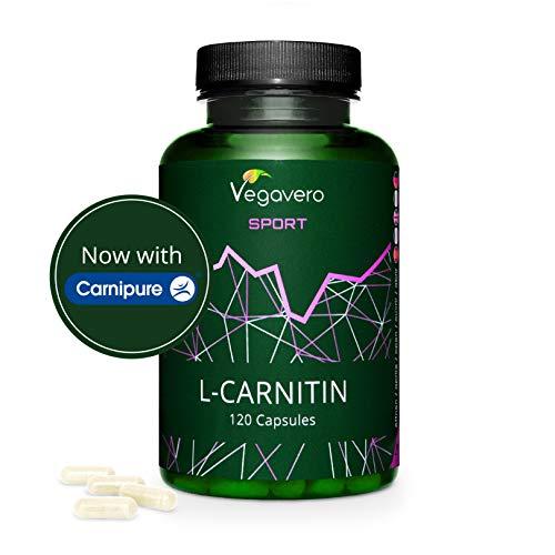 L - carnitina (carnipure®) 1000 mg vegavero® sport | vincitrice del confronto 2019* | forma tartrato | senza additivi | 120 capsule | vegan