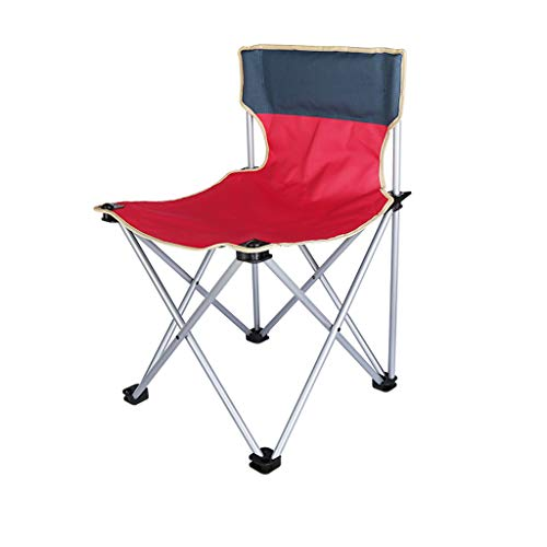 Red Beach Chair (Folding Chair YAN SYF Tragbarer Outdoor Klappstuhl | Wanderer Skizze Freizeit Mazar Hocker | Red Beach Angeln Camping Klappstuhl 48x48x74cm A+)
