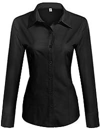buy online fcc5c f8682 Amazon.it: camicia nera donna - Nero / Bluse e camicie / T ...