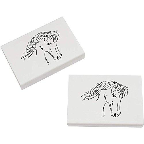 Azeeda 2 x 45mm 'Pferd' Radiergummis (ER00003103)