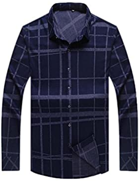 Las Camisas De Los Hombres Otoño E Invierno Calientan La Camisa A Cuadros La Camisa Floja Ocasional La Ropa De...