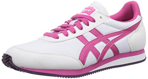 Asics Sakurada, Chaussures de trail mixte adulte Blanc (0118-White/Fuchsia Purple)