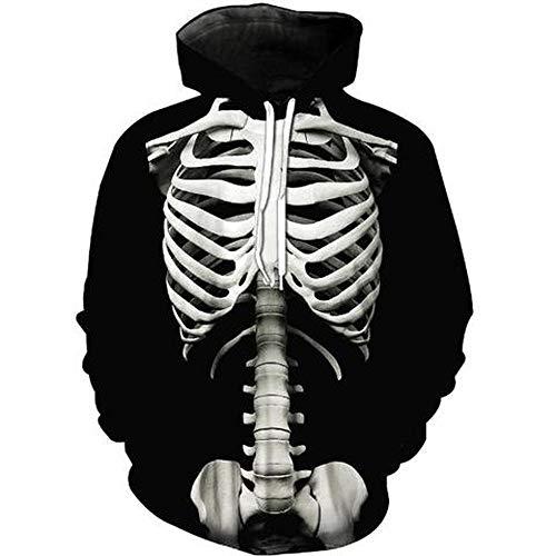 Pullover Für Herren, Sweatshirt Hoodie Lange Ärmel Kapuzenpullover Mit Tasche Resplend Langärmliges Kapuzenpulli Mit 3D Drucken Mode Lose Kapuzenoberteil Tops