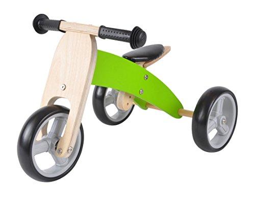 Lauflernrad / Laufrad aus Holz 4-in-1 Smartbike ab 1 Jahre (Grün)