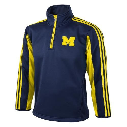 Michigan Wolverines Adidas Kinder 3-Stripe 1/4 Zip Sweatshirt (3 Mw Zip)