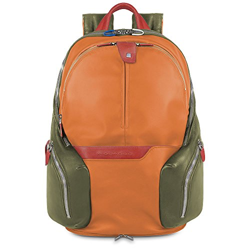 Piquadro CA2943OS Zaino, Collezione Coleos, Arancione