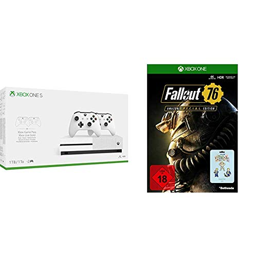 Xbox One S 1TB Konsole (inkl. 2. Controller + 3 Monate Gamepass + 14 Tage Live Gold) + Fallout 76 S.P.E.C.I.A.L Edition [Xbox One]