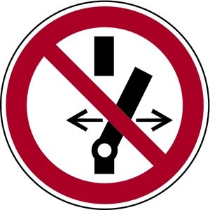 Magnetfolie Schalten verboten gemäß ASR A1.3/DIN 7010 magnetisch 100 mm | Verbotsschild | praxisbewährt, wetterfest