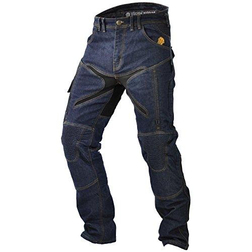 Trilobite Probut X-Factor Herren Motorrad Jeans Hose Dunkelblau Protektoren Aramid Thermo Länge 32, 38166304, Größe 38