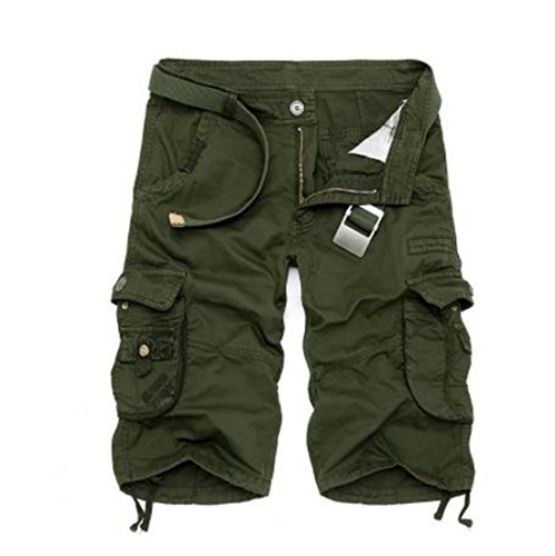 Men's Camouflage Tooling Optional Casual Shorts Army Green
