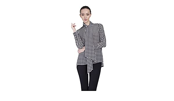 358d45bcb0a21a Vaughan The Cassie Houndstooth Pussy Bow Blouse - Multi -: Amazon.co.uk:  Clothing
