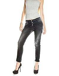 PLEASE - P78 femme jeans noir baggy