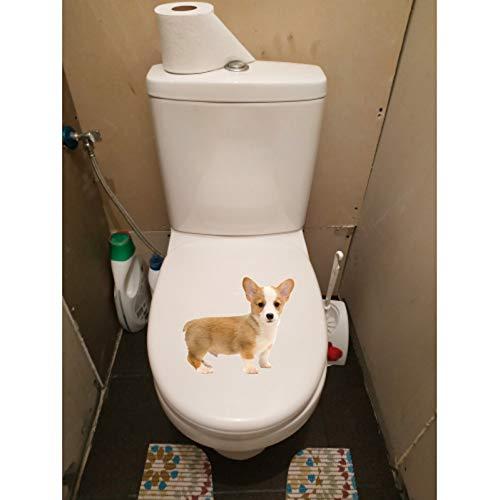 WYLYSD Toilettendeckel Aufkleber21.7 X 18.9 cm Nette Corky Hund Kinder Schlafzimmer Wanddekor Decals Tier Wc Aufkleber T1-0265