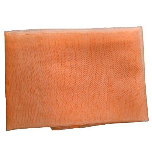 Preisvergleich Produktbild San Bodhi Glas Garn Sheer Fenster Querbehang Vorhang PURE COLOR Schlafzimmer Home Hochzeit Decor, Orange, 100cm x 200cm(On Rod)
