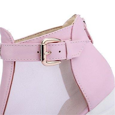 LvYuan Da donna-Sandali-Matrimonio Formale Casual Serata e festa-Comoda Innovativo-Zeppa-Materiali personalizzati-Nero Rosa Bianco Pink