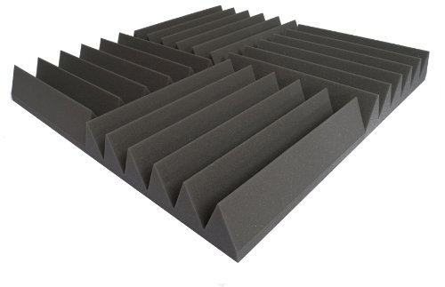 14x-afw100-pro-acoustic-foam-1673-wedge-tiles-studio-sound-treatment-253m2-272-square-feet-per-pack