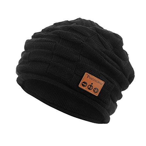 Pococina Kabellose Bluetooth Mütze, Weiche Bequeme Knit Beanie Hut mit Eingebauter Kopfhörer, kompatibel mit iPhone, Android Smartphone, iPad, andere Tablets und Laptops - (Ipad Kostüme Apple)