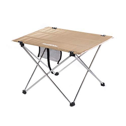 Tragbarer Campingtisch, kleiner ultraleichter Klapptisch mit Aluminium-Tischplatte und Tragetasche Einfach zu tragender Präfekt for Picknick im Freien BBQ Cooking Festival Beach Home Use