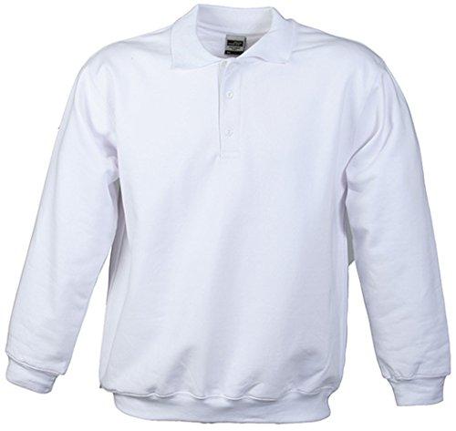 Polo Sweat Heavy White