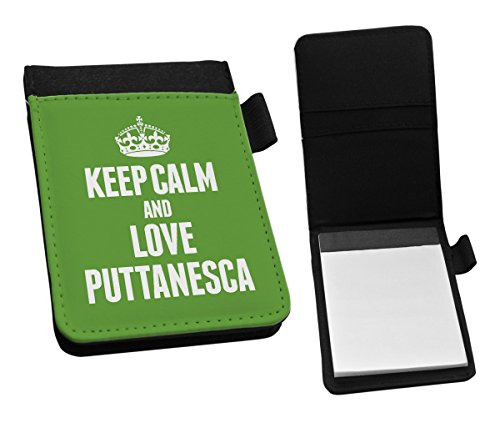 Duke Gifts GREEN Keep Calm and Love Puttanesca Small Notepad 1431