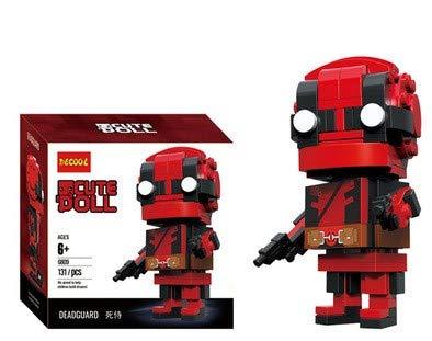 CuteDoll Figura de Deadpool de los Vengadores Avengers Endgame Puzzle Juego Bloques de construccion tamaño 9 cm DIY Mini Building Puzzle Juguete niños colección