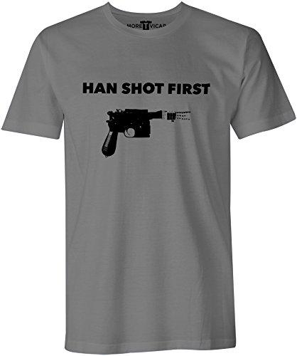 Han Shot First - Mens Star Wars Inspired Harrison Ford Movie T Shirt
