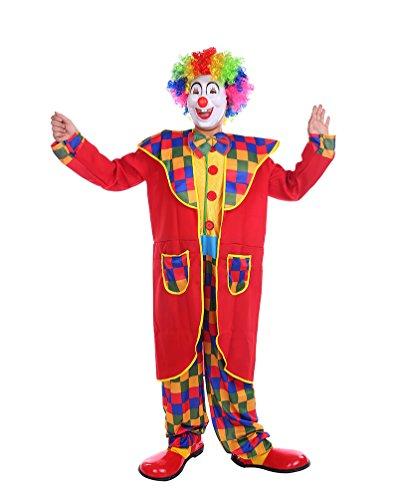 Für Kostüm Hose Smoking Erwachsene - NiSeng Unisex Horror Halloweenclown Zirkus Clowns Smoking Horror Faschingskostüm Mehrfarbig Erwachsene Halloween Kostüme Rot