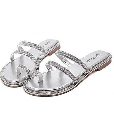 Zormey Frauen Schuhe Flachem Absatz Hausschuhe Hausschuhe Casual Schwarz/Silber US6 / EU36 / UK4 / CN36