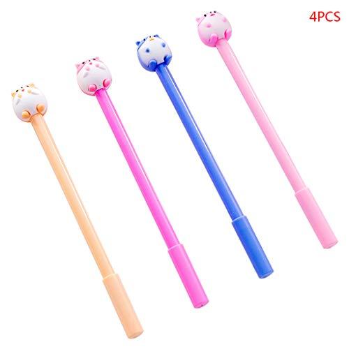 Kawaii Hamster Gelstifte, 0,5 mm, neutral, Schreibwaren, Schreibutensilien, Schule, Büro, Geschenk, Kindergeschenk, 4 Stück