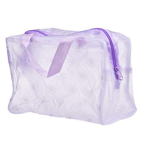 Kosmetiktasche für Damen, tragbar, für Reisen, Zahnbürste, Kosmetiktasche, Kosmetiktasche, Kosmetiktasche, Reisen, Zahnbürsten-Tasche violett violett Einheitsgröße