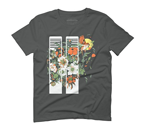 Floral Flight Men's Graphic T-Shirt - Design By Humans Anthracite