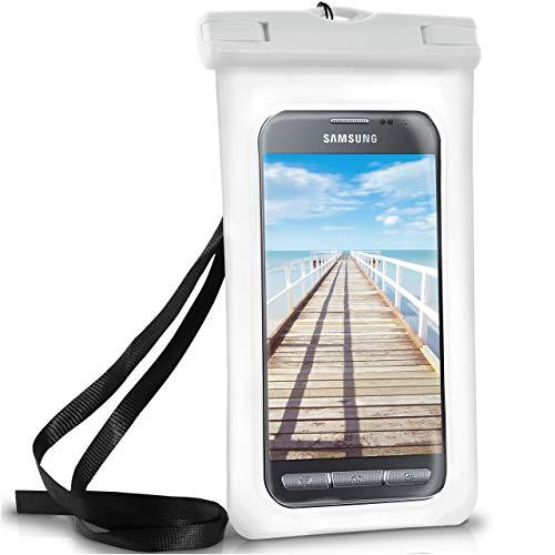ONEFLOW Wasserdichte Hülle für Samsung Galaxy | Full Cover in Weiß 360° Unterwasser-Gehäuse Touch Schutzhülle Water-Proof Handy-Hülle für Galaxy Xcover 4 3 2 Alpha Y3 UVM Case Handy-Schutz