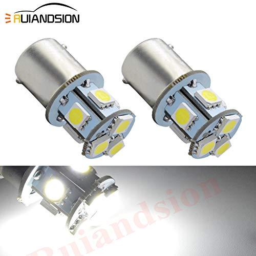 Ruiandsion 1156 Ampoule LED DC 6V Super Bright LED 5050 8SMD Chipsets 6000K remplacement blanc Ampoule pour feu de recul Clignotant Feu arrière (pack de 2)