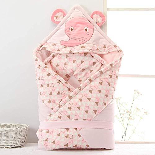POIUYT Babydecke Kinderwagen Wrap Hug Ist Verdickt Baby Hält Decke Frühling Und Sommer Liefert Schlafsack Pink_100 * 100cm,Yellow -100 * 100cm -