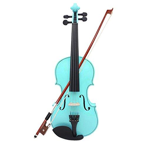 MagiDeal Professionelle 4/4 Lindenholz Violine mit Koffer für Violine Lerner -Blau