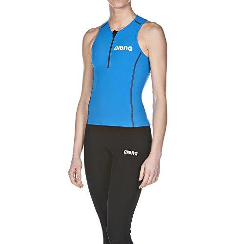 arena Damen Wettkampf Triathlon Oberteil Powerskin ST (Perfekte Kompression, Weniger Wasserwiderstand), Brilliant Blue (88), M