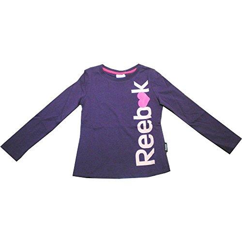 Reebok Girl's Long Sleeve T-Shirt Mehrfarbig Rosa/Weiß 42 (Reebok Rosa T-shirt)
