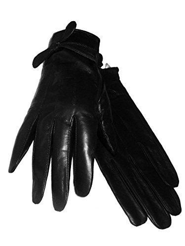 Gants Femme Cuir d'Agneau Noir