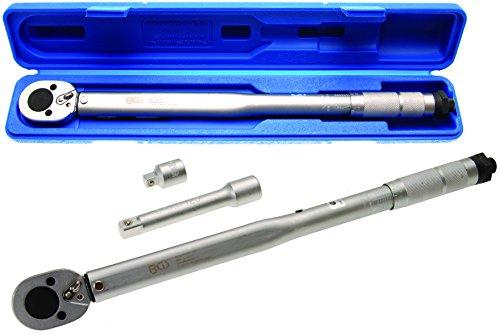 BGS Drehmomentschlüssel, 12,5 (1/2), 28-210 NM mit Adapter und Verlängerung, BGS-98